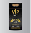 brochure template for vip party vector image