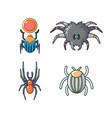 bugs icon set cartoon style vector image vector image