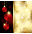 Christmas crystal ball greeting card vector | Price: 1 Credit (USD $1)