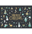 Christmas greeting card poster and banner vector image