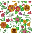 colorful floral doodle seamless pattern vector image vector image