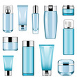 cosmetic packaging icons set 6 vector image