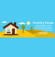 country house banner horizontal concept vector image vector image