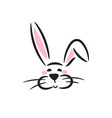 cute bunny head icon vector image vector image