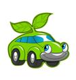 Cute eco friendly car vector image