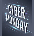 cyber monday web banner data visualization vector image