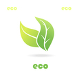 eco icon leaves vector image vector image