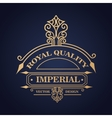 emblem royal quality design vector image