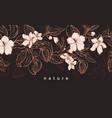 floral vintage background sketch realistic tree vector image