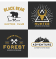 Forest mountain adventure logo design vector image