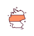 germany map icon design vector image vector image