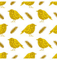 golden birds on a white background vector image vector image