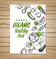 hand drawn healthy food poster vector image