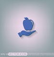 Hand holding apple vector image vector image