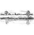 handwritten sketch of rural house vector image