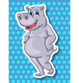 Hippo vector image vector image