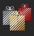 holiday celebration greeting card design with vector image vector image