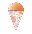 Ice cream simple vintage vector image vector image