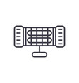 infrared heater line icon sign vector image vector image