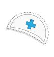 medicine flat icon for design nurse cap world vector image