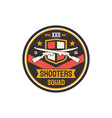 military chevron shooters snipers squad isolated vector image vector image