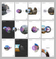 minimal brochure templates with circle elements on vector image vector image