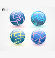 multicolored sphers isolated vector image vector image