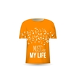 Music is my life t-shirt design template vector image vector image