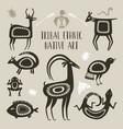 native totem animals tribal ethnic animal vector image