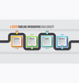 navigation map infographic 4 steps timeline vector image