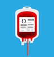 o blood bag vector image vector image