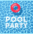 pool and inflatable ring view from above pool vector image vector image