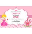 Princess Birthday Party Invitation vector image vector image
