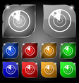 radar icon sign Set of ten colorful buttons with vector image vector image