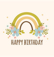 rainbow birthday hand drawn apparel vector image