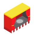 Red stage isometric 3d icon vector image vector image