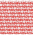 red striped seamless pattern with dessert vector image