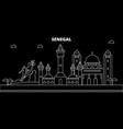 senegal silhouette skyline city vector image vector image