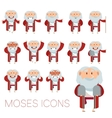 Set of Moses icons vector image vector image