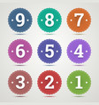 set round emblems with numbers vector image vector image