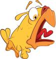 Shouting chicken Cartoon vector image vector image