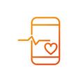smartphone app sport gym fitness gradient line vector image vector image