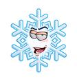 SnowFlake Emoticon Im Romeo vector image vector image