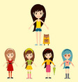 street fashion girls models wear style fashionable vector image vector image