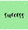 Success Brush lettering vector image vector image
