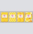summer sale templates a6 size vector image vector image