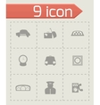 taxi icon set vector image vector image