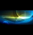 techno globe concept neon glow planet vector image