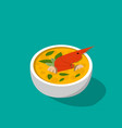 thai soup with shrimp - tom yum kung in 3d vector image