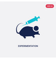 two color experimentation icon from education vector image vector image